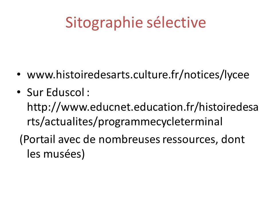 Sitographie sélective