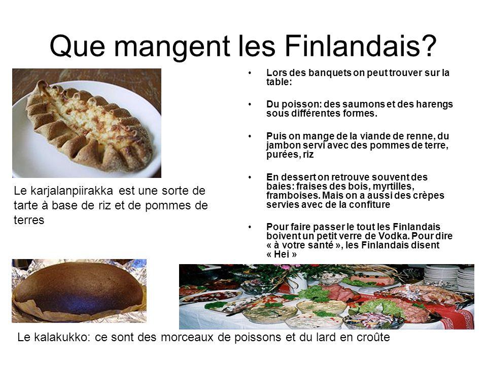 Que mangent les Finlandais