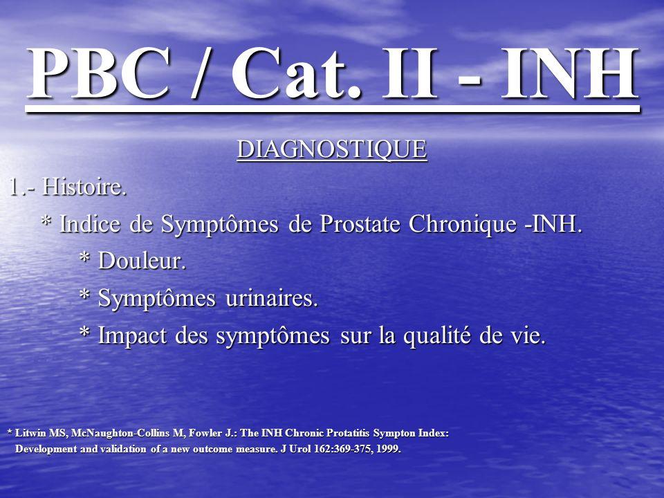 PBC / Cat. II - INH DIAGNOSTIQUE 1.- Histoire.