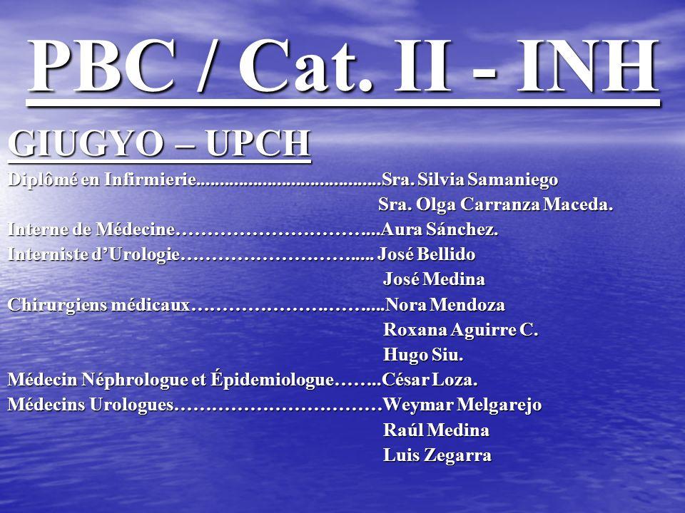 PBC / Cat. II - INH GIUGYO – UPCH