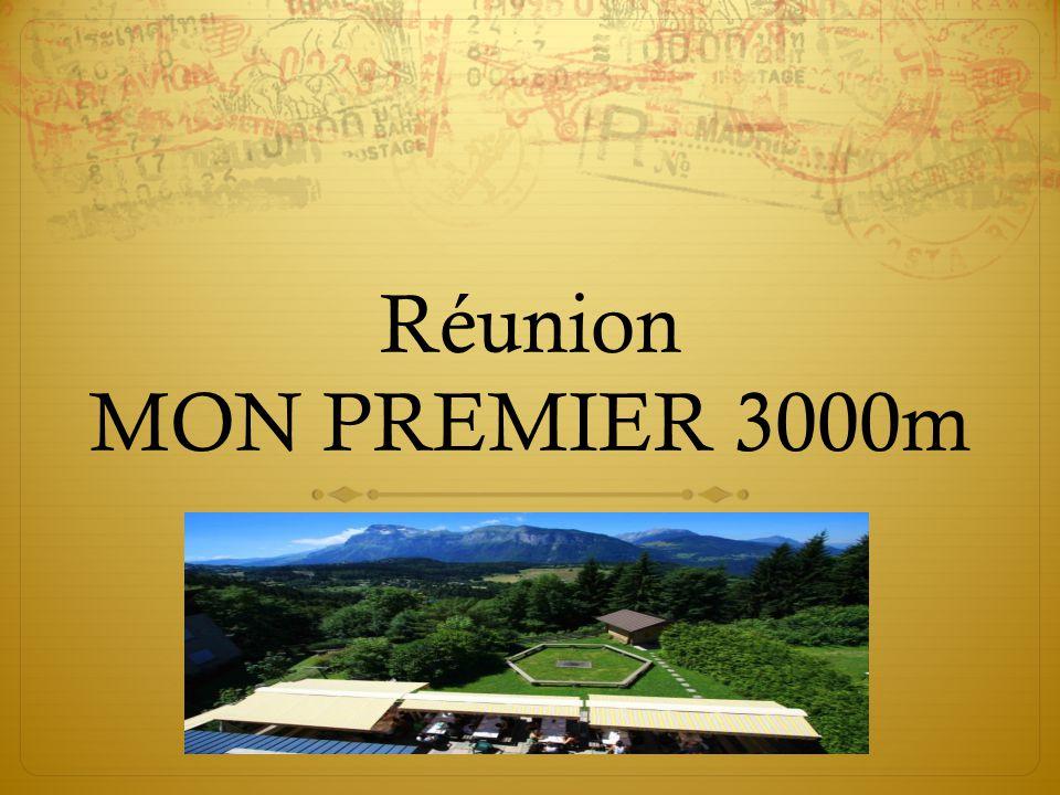 Réunion MON PREMIER 3000m