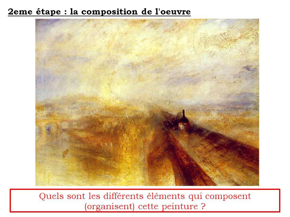 2eme étape : la composition de l oeuvre