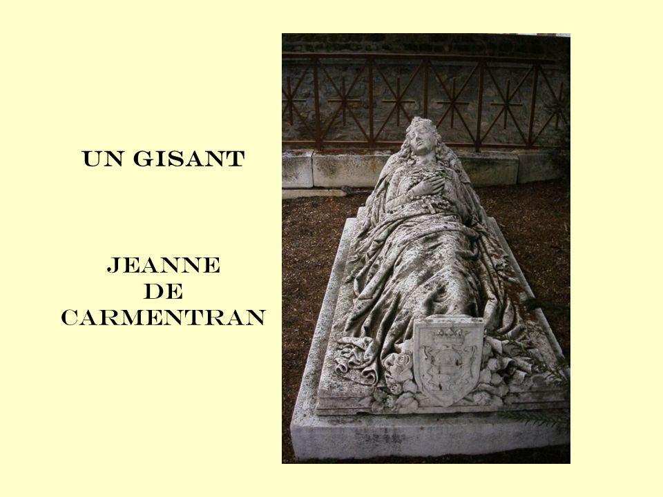 Un gisant Jeanne de Carmentran