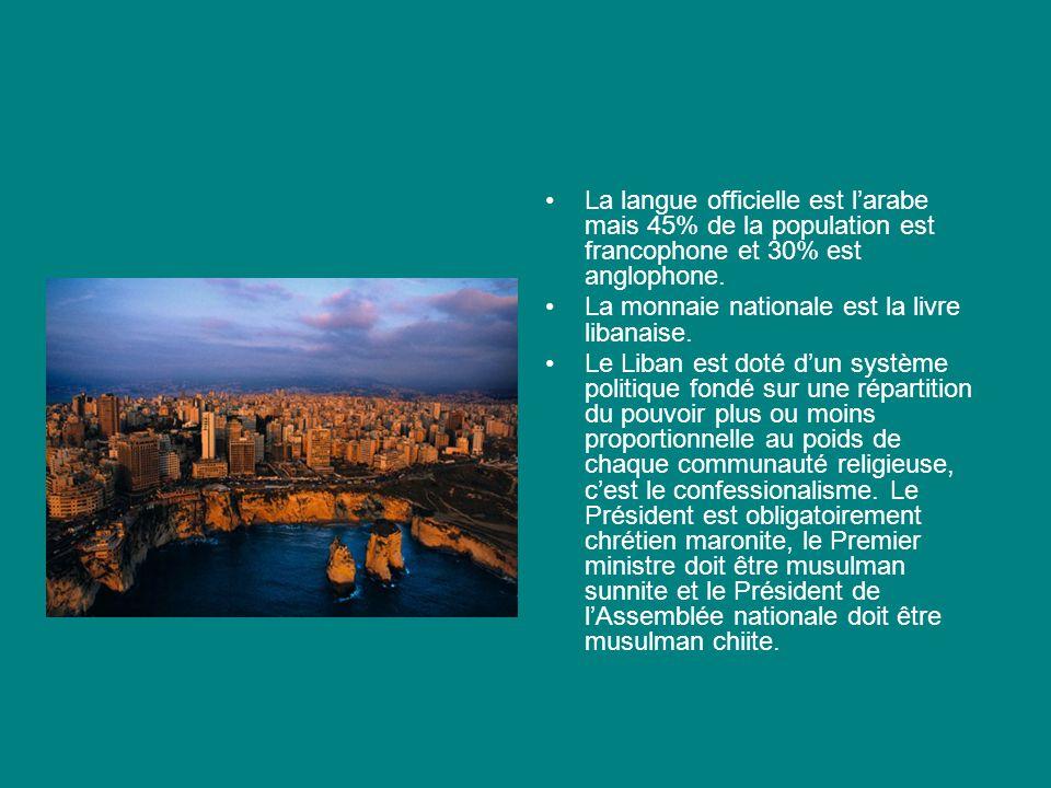 La langue officielle est l'arabe mais 45% de la population est francophone et 30% est anglophone.