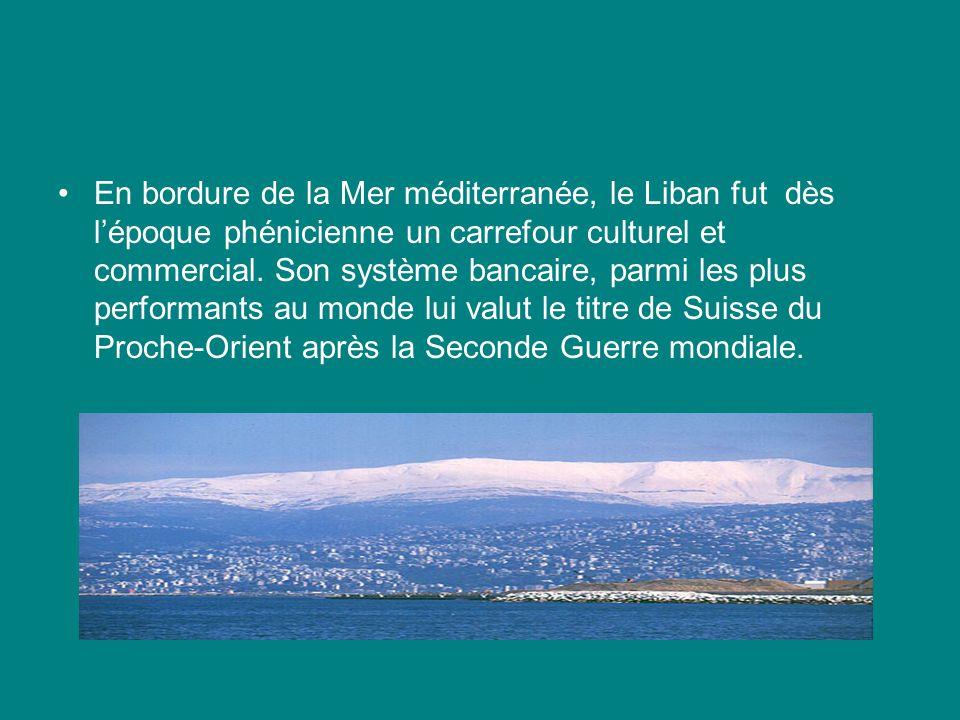 En bordure de la Mer méditerranée, le Liban fut dès l'époque phénicienne un carrefour culturel et commercial.