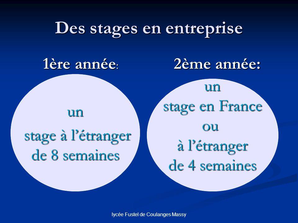 Des stages en entreprise