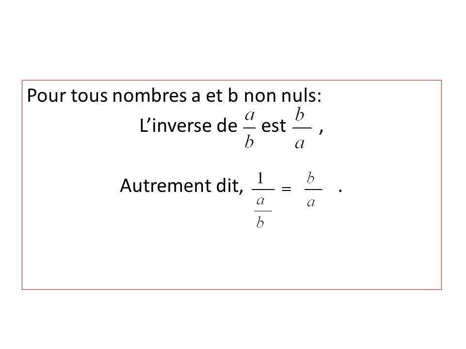 Pour tous nombres a et b non nuls: