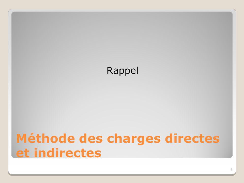 Méthode des charges directes et indirectes
