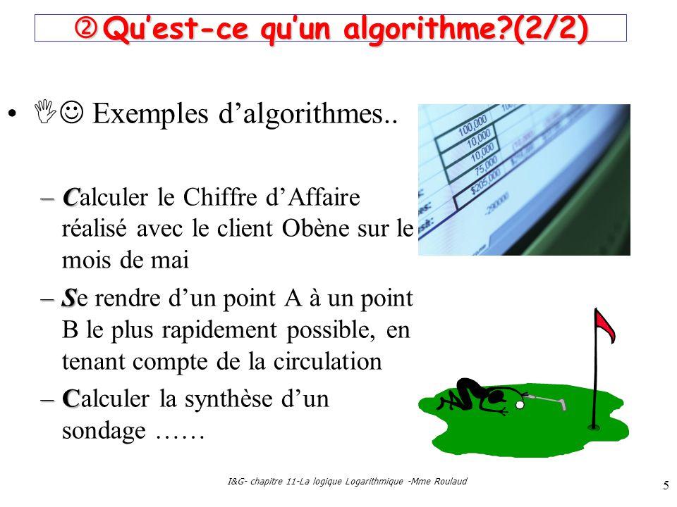  Qu'est-ce qu'un algorithme (2/2)