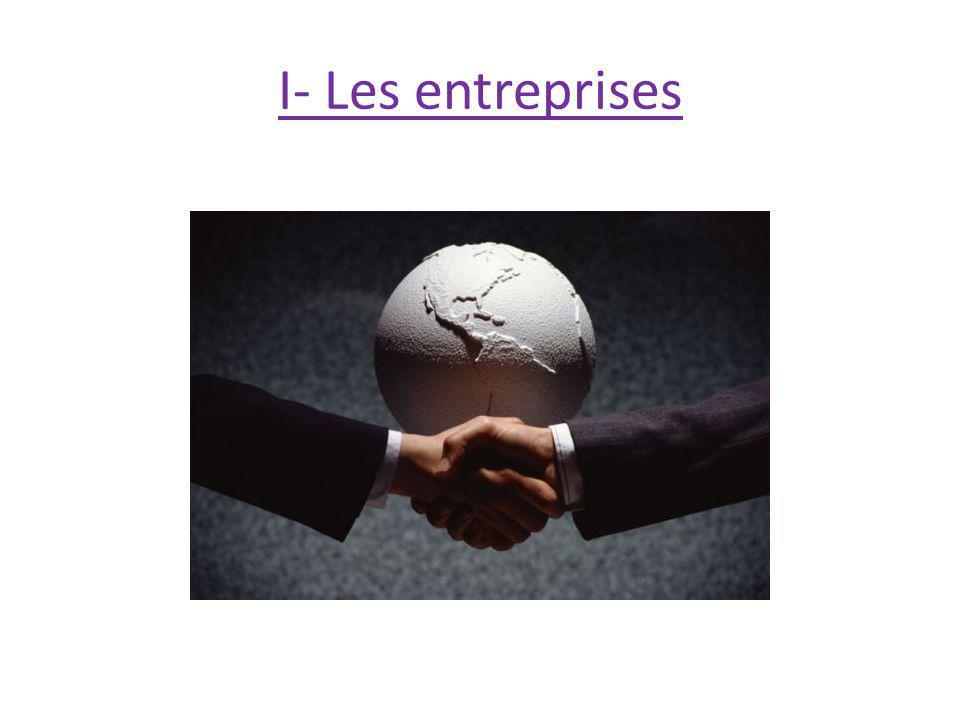 I- Les entreprises 7