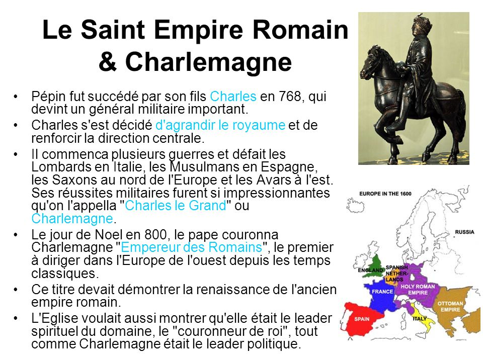 Le Saint Empire Romain & Charlemagne
