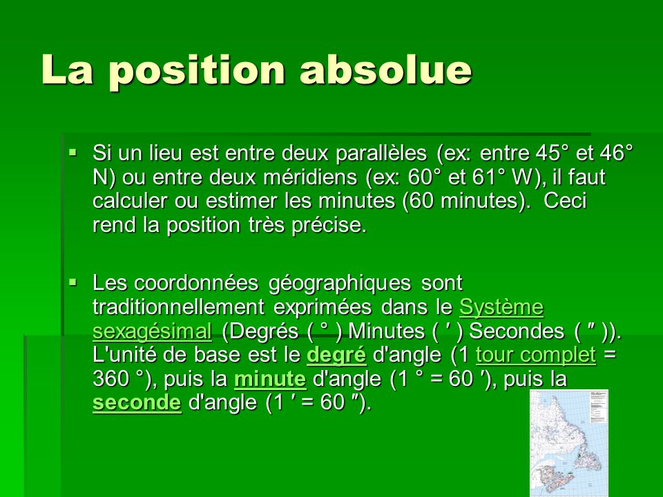 La position absolue