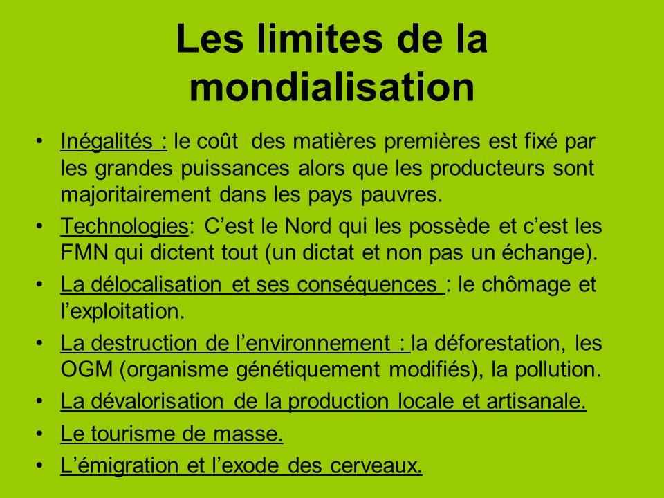Les limites de la mondialisation