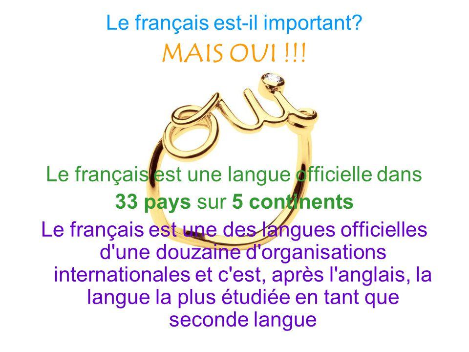 MAIS OUI !!! Le français est-il important