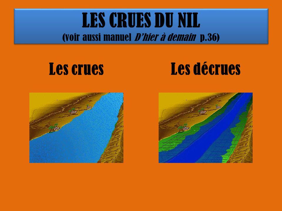 LES CRUES DU NIL (voir aussi manuel D'hier à demain p.36)