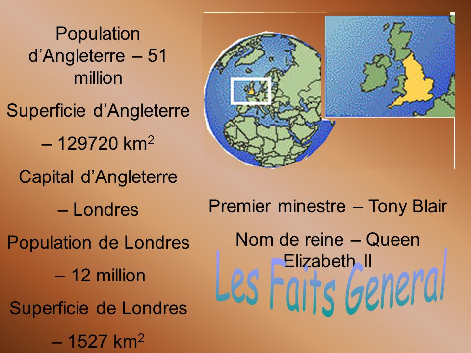Les Faits General Population d'Angleterre – 51 million