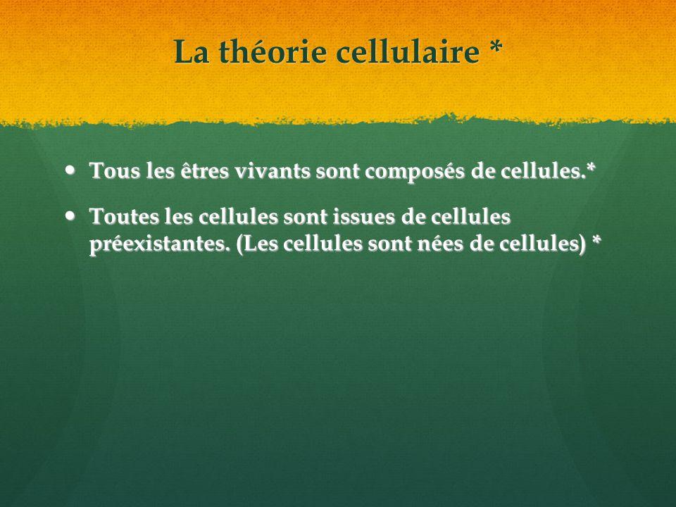 La théorie cellulaire *