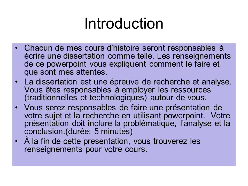 dissertation comment faire une introduction Analytical essay writing service comment faire une intro de dissertation en histoire master degree thesis paper a descriptive essay on a person.