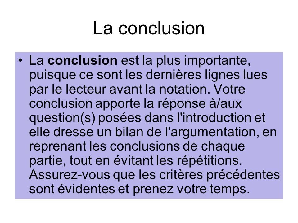 La conclusion