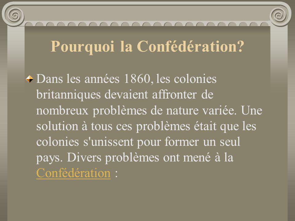 Pourquoi la Confédération