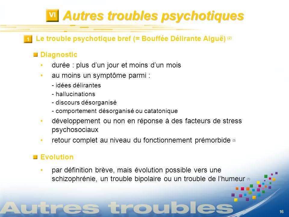 Autres troubles psychotiques