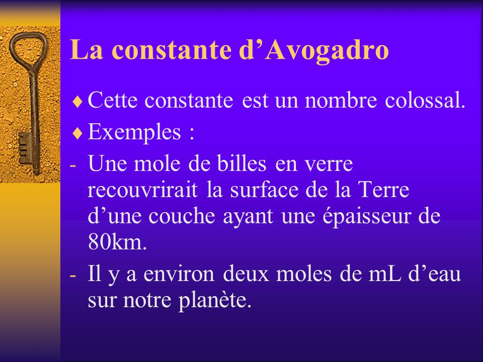 La constante d'Avogadro
