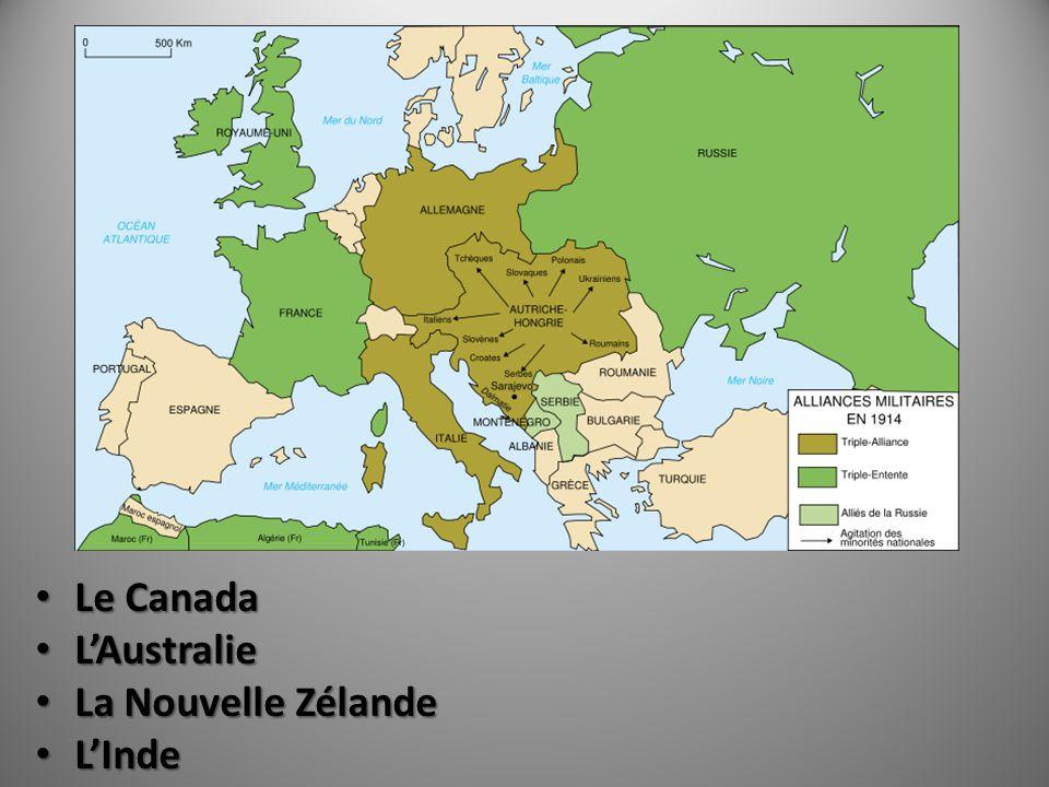 Le Canada L'Australie La Nouvelle Zélande L'Inde