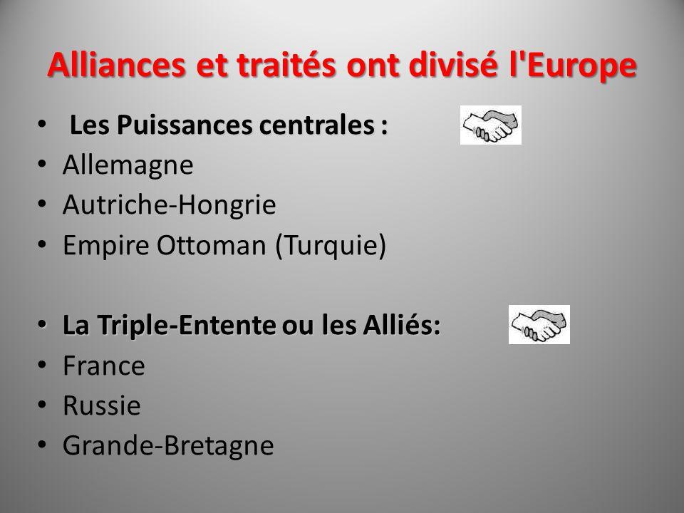 Alliances et traités ont divisé l Europe