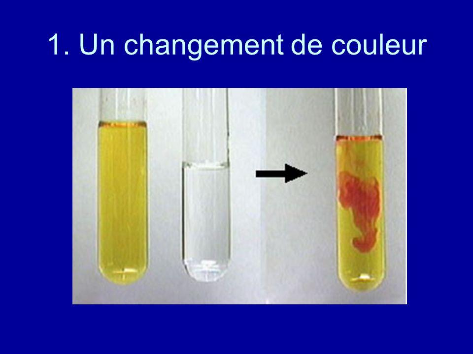 1. Un changement de couleur