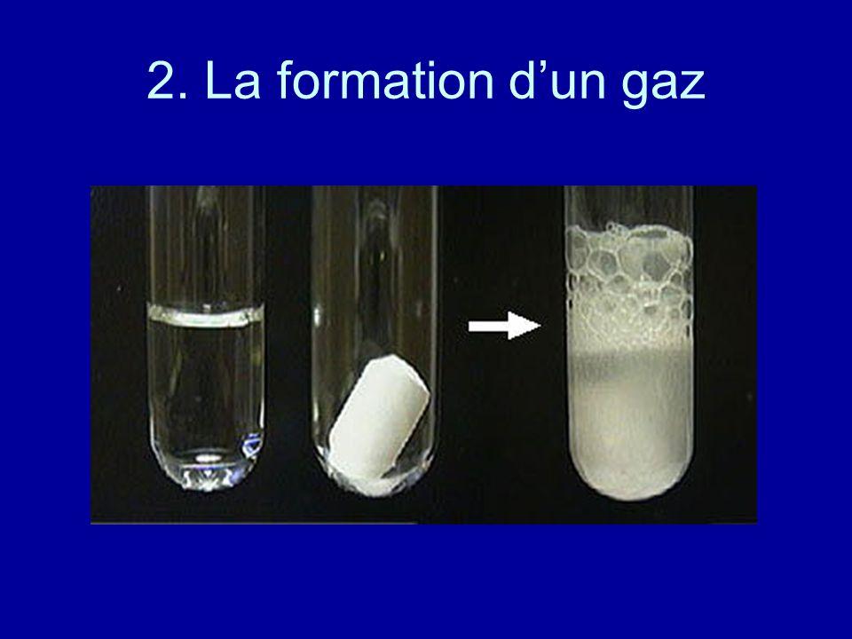 2. La formation d'un gaz
