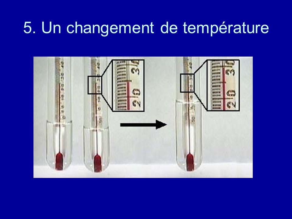 5. Un changement de température