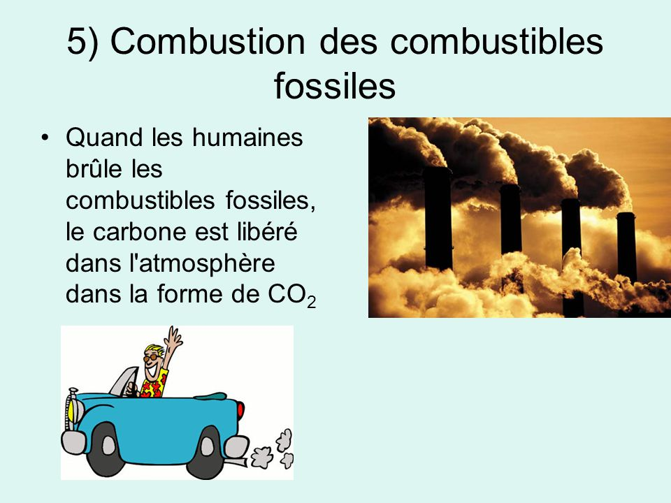 5) Combustion des combustibles fossiles