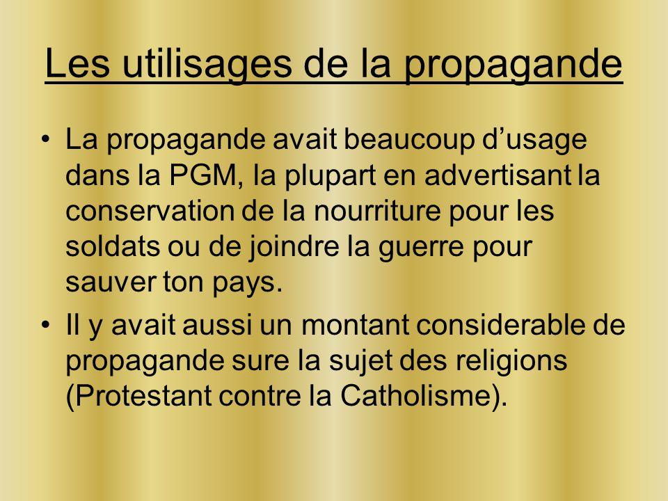 Les utilisages de la propagande