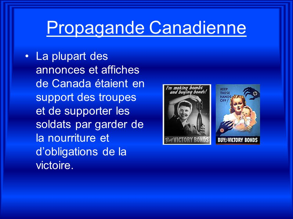 Propagande Canadienne