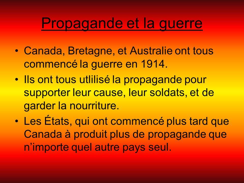 Propagande et la guerre