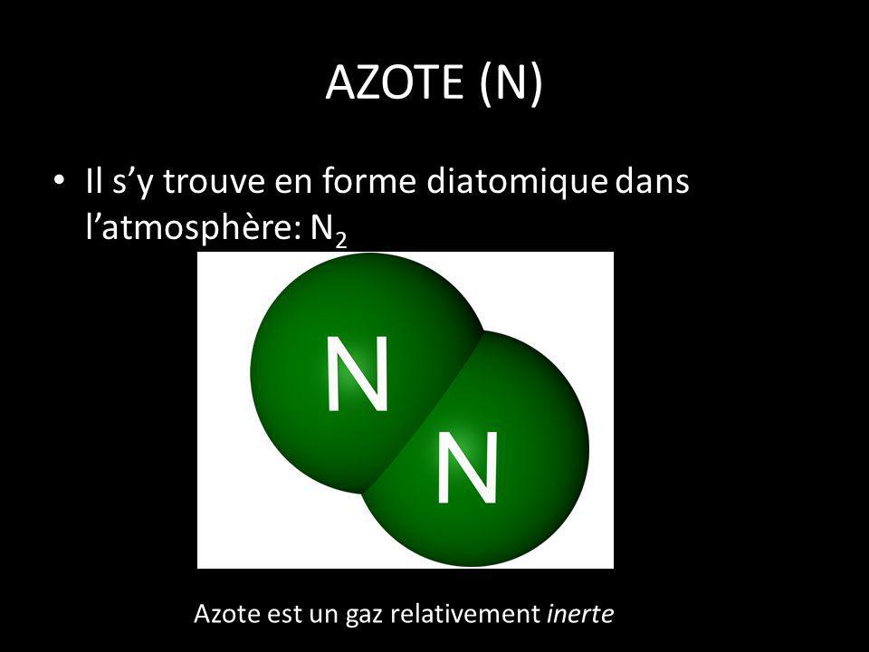 Azote est un gaz relativement inerte