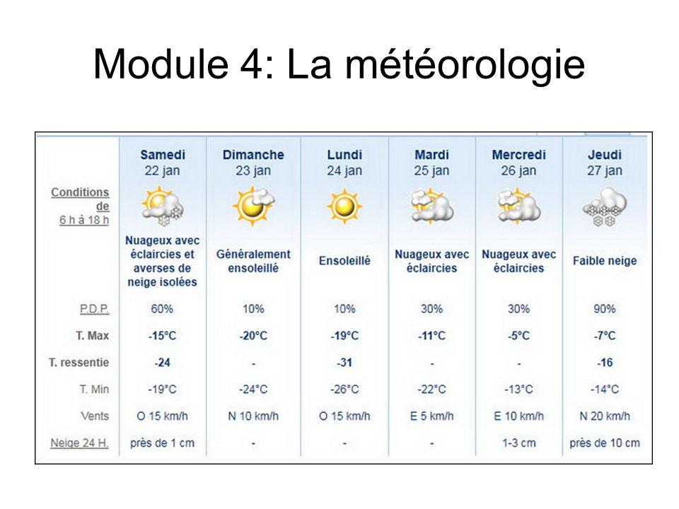 Module 4: La météorologie