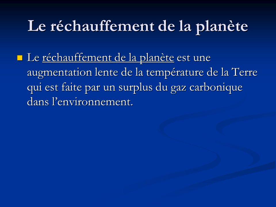 Le réchauffement de la planète