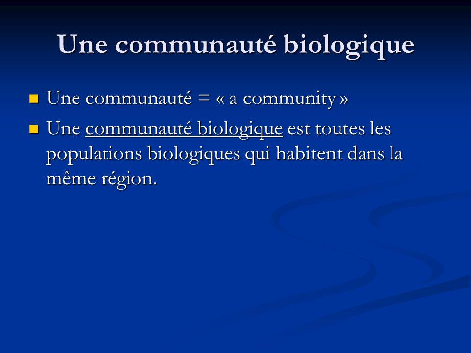 Une communauté biologique
