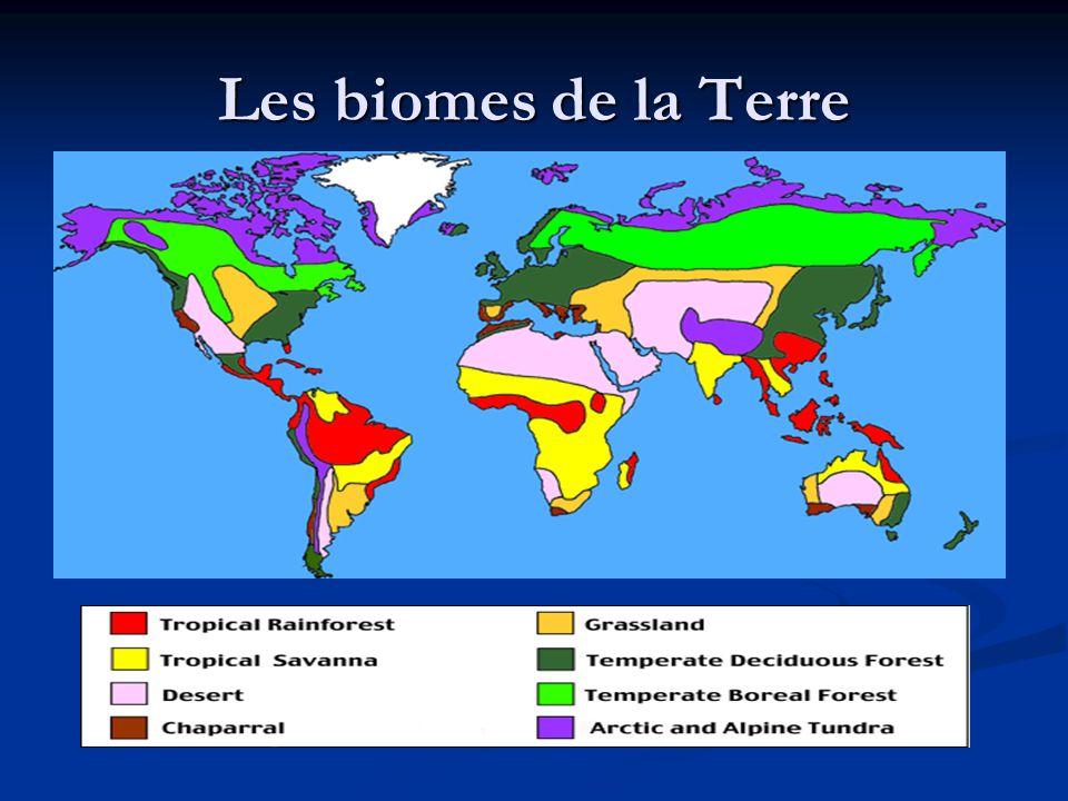 Les biomes de la Terre