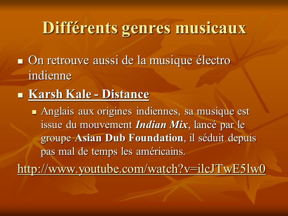 Différents genres musicaux