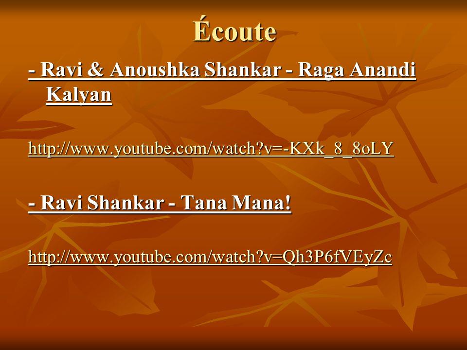 Écoute - Ravi & Anoushka Shankar - Raga Anandi Kalyan