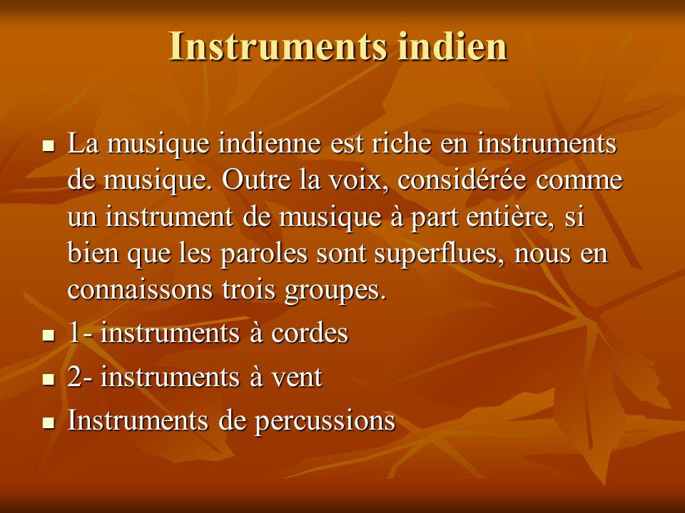 Instruments indien