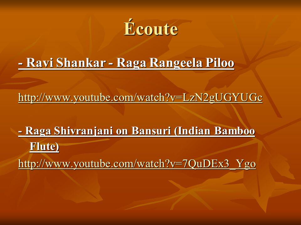 Écoute - Ravi Shankar - Raga Rangeela Piloo