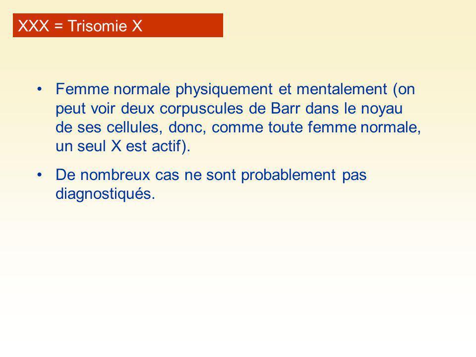 XXX = Trisomie X