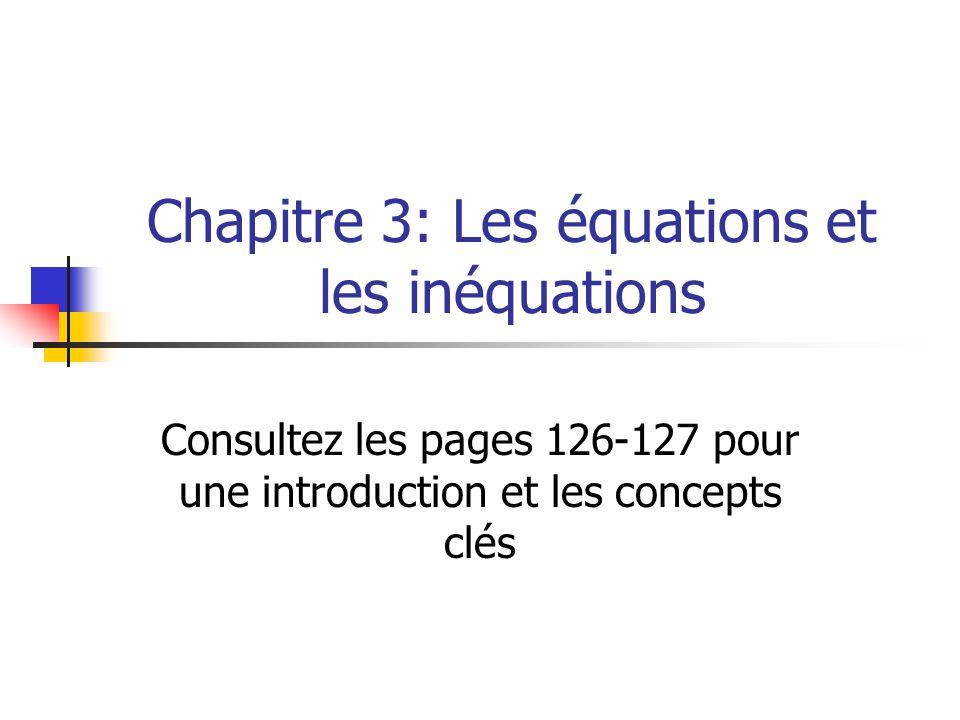 Chapitre 3: Les équations et les inéquations
