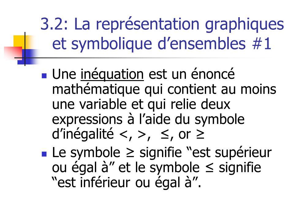 3.2: La représentation graphiques et symbolique d'ensembles #1