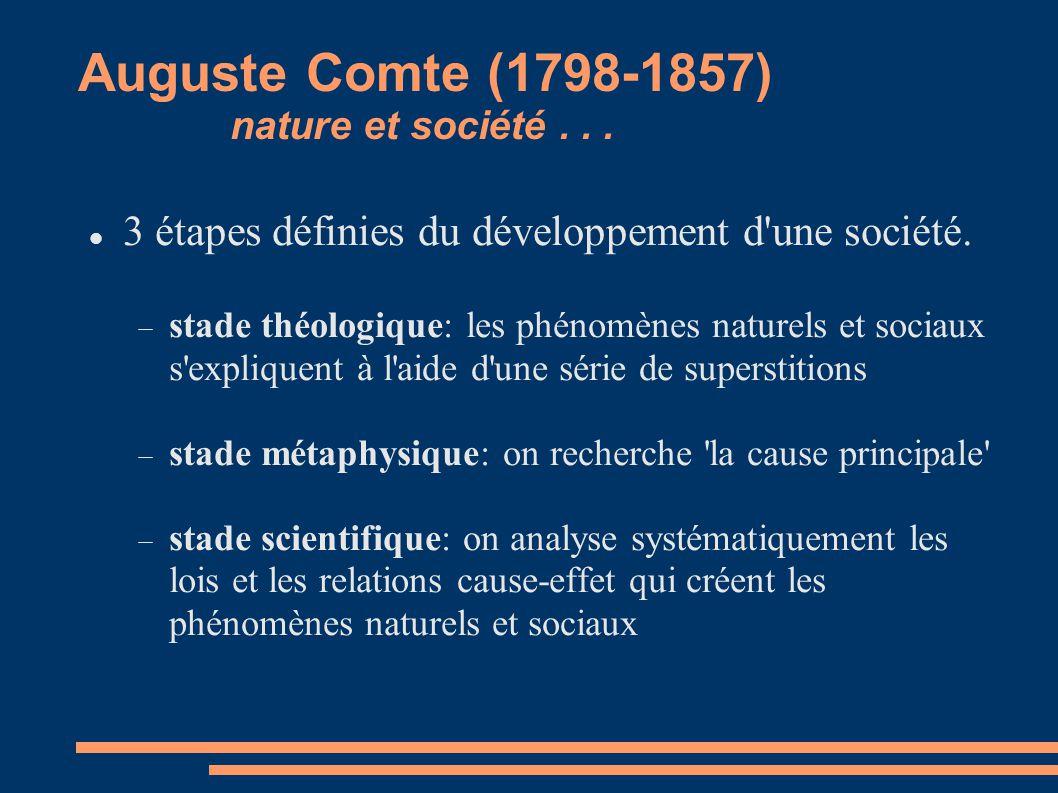 Auguste Comte (1798-1857) nature et société . . .