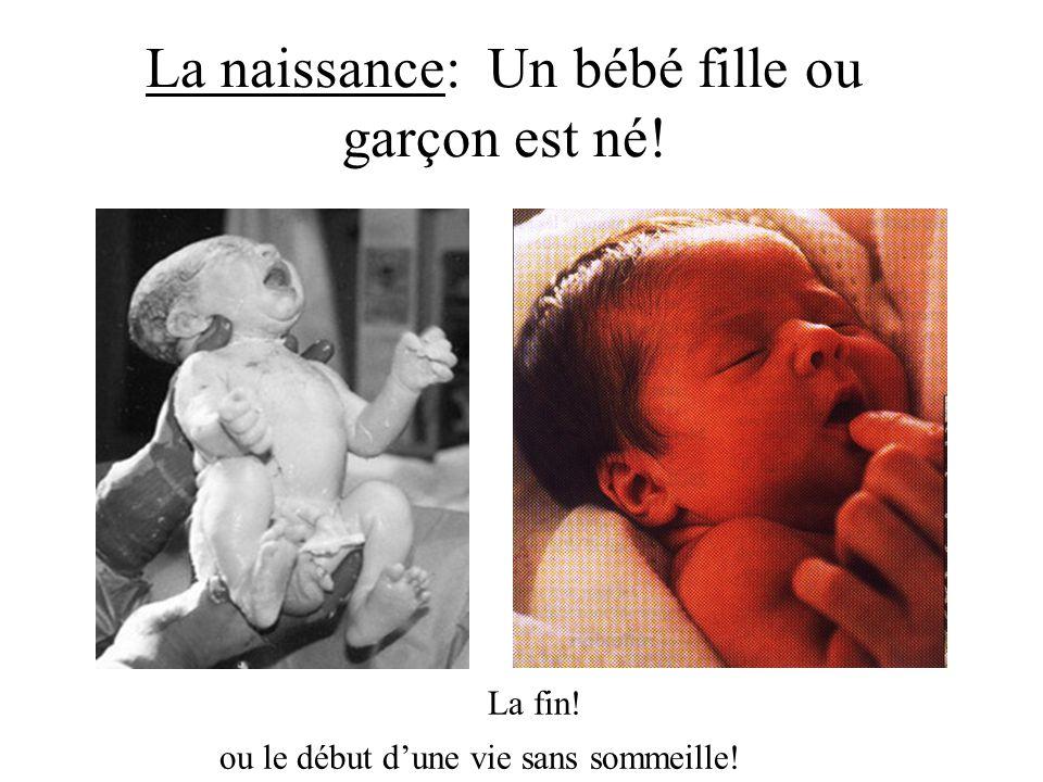 La naissance: Un bébé fille ou garçon est né!