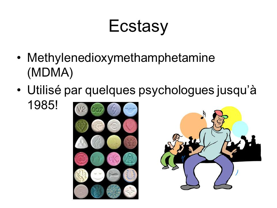 Ecstasy Methylenedioxymethamphetamine (MDMA)